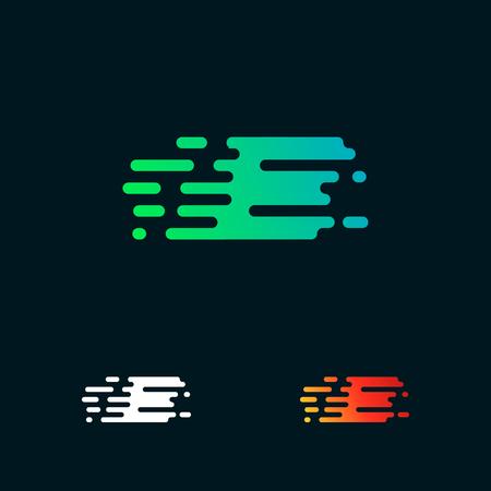 letter E modern speed shapes logo design vector Stock Vector - 105107410