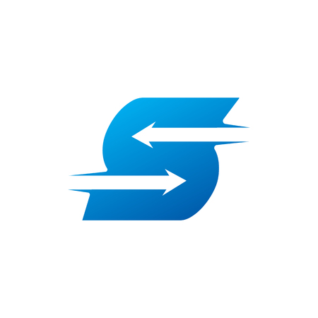 letter S with Arrow logo Design Template Stockfoto - 105107668