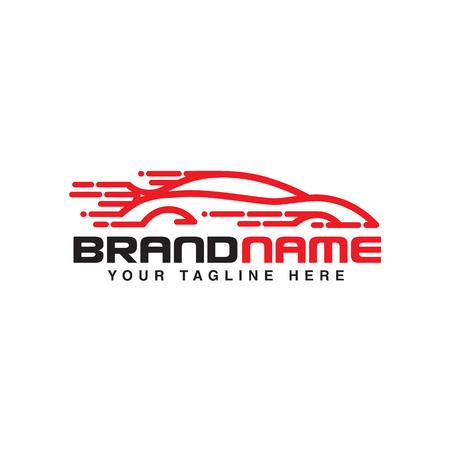 fast car logo. automotive logo template