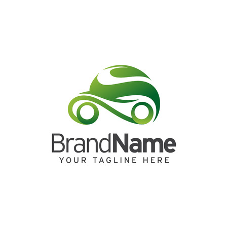 Eco Car Logo Template Design Vector illustration