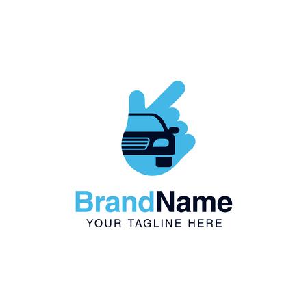 car solution logo services template. auto company logo design Illustration
