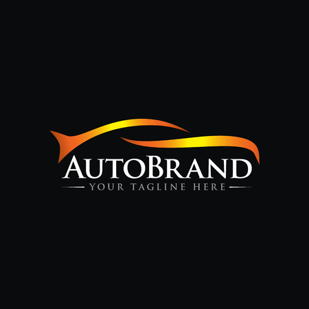 luxury Car Automotive Vector Logo Template Illusztráció