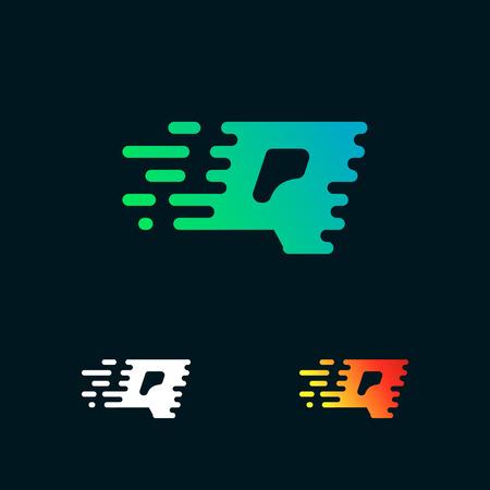 letter Q modern speed shapes logo design vector Illustration