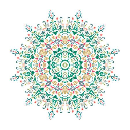 Mandala, Vector Mandala, floral mandala, flower mandala, oriental mandala, coloring mandala. Oriental pattern, vector illustration. Islam, Arabic, Indian, turkish, pakistan, chinese, ottoman motifs Illusztráció