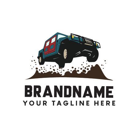 Offroad extreme adventure. automotive logo template. Vector illustration 向量圖像