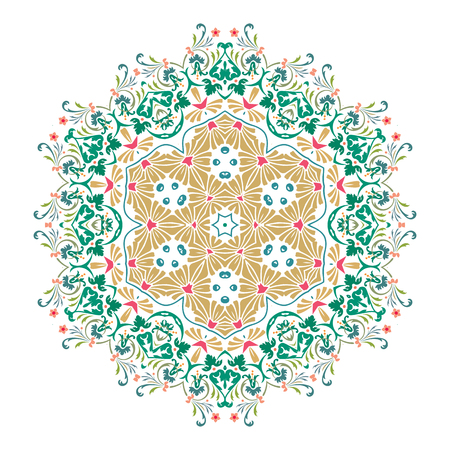 Mandala, Vector Mandala, floral mandala, flower mandala, oriental mandala, coloring mandala. Oriental pattern, vector illustration. Islam, Arabic, Indian, turkish, pakistan, chinese, ottoman motifs 向量圖像