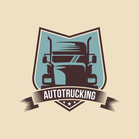 Een sjabloon van Truck Logo, vracht, levering, logistiek Logo