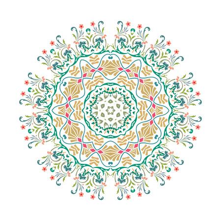 Mandala, Vector Mandala, floral mandala, flower mandala, oriental mandala, coloring mandala. Oriental pattern, vector illustration. Islam, Arabic, Indian, turkish, pakistan, chinese, ottoman motifs Иллюстрация