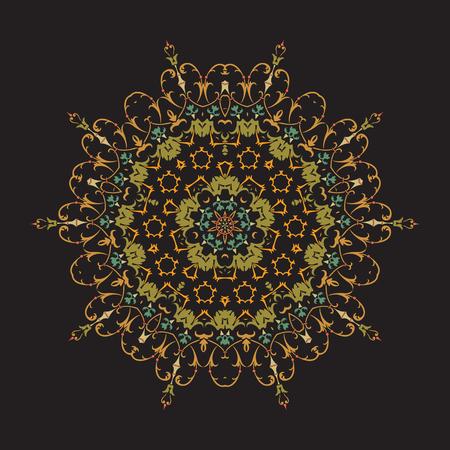 Mandala, Vector Mandala, floral mandala, flower mandala, oriental mandala, coloring mandala. Oriental pattern, vector illustration. Islam, Arabic, Indian, turkish, pakistan, chinese, ottoman motifs Illustration