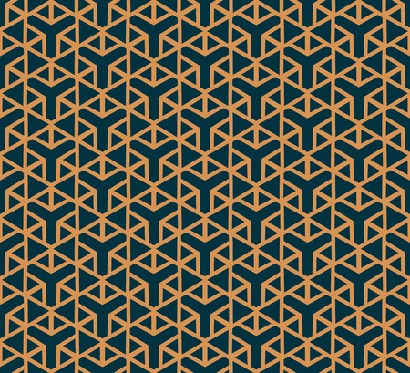 Vector seamless pattern. Modern stylish abstract texture. Repeating geometric tiles from striped elements Ilustração