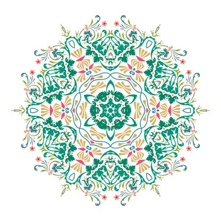 Mandala, Vector Mandala, floral mandala, flower mandala, oriental mandala, coloring mandala. Oriental pattern, vector illustration. Islam, Arabic, Indian, turkish, pakistan, chinese, ottoman motifs Ilustração