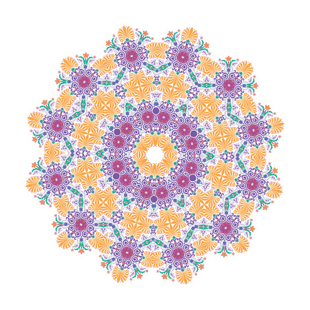 Mandala, Vector Mandala, floral mandala, flower mandala, oriental mandala, coloring mandala. Oriental pattern, vector illustration. Islam, Arabic, Indian, turkish, pakistan, chinese, ottoman motifs  イラスト・ベクター素材