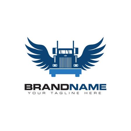 truck transportation logo Vectores