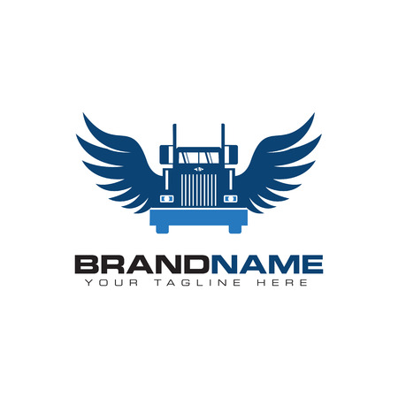 truck transportation logo Illustration