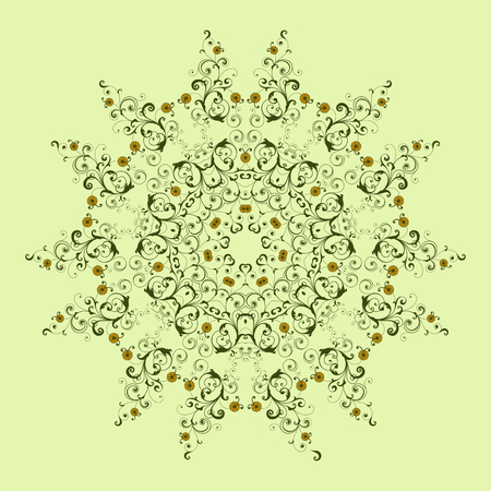 Mandala, Vector Mandala, floral mandala, flower mandala, oriental mandala, coloring mandala. Oriental pattern, vector illustration. Islam, Arabic, Indian, turkish, pakistan, chinese, ottoman motifs Фото со стока - 114709826