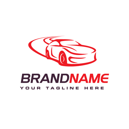 Drift car logo, automotive logo design template