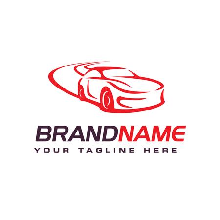 Drift-Car-Logo, Automotive-Logo-Design-Vorlage Logo