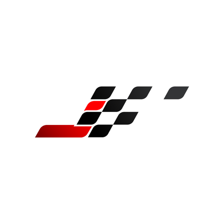 Letter J with racing flag logo