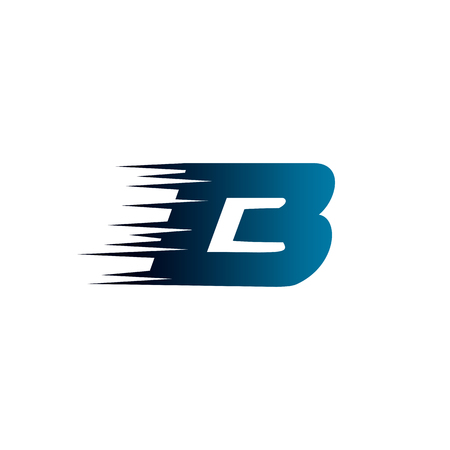 Letter Initial B Speed Logo Design Template Vectores