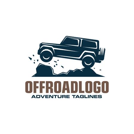 Offroad-Logo, Safari-Geländewagen, Expeditions-Offroader. Logo