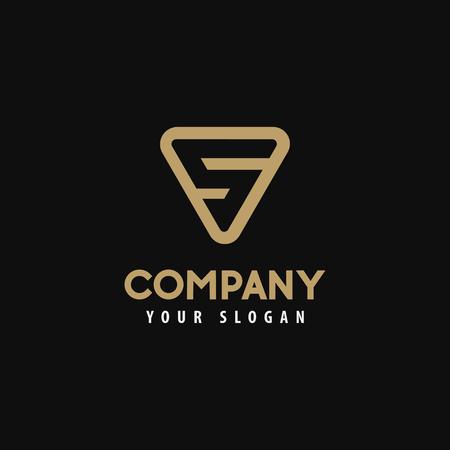 Sjabloon logo letter s, gouden logo. Vector illustratie