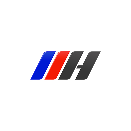 letter MH racing logo design template