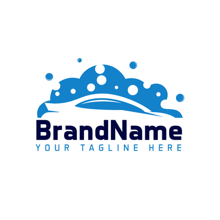 Car Wash Logo Template Designs Standard-Bild - 106812199