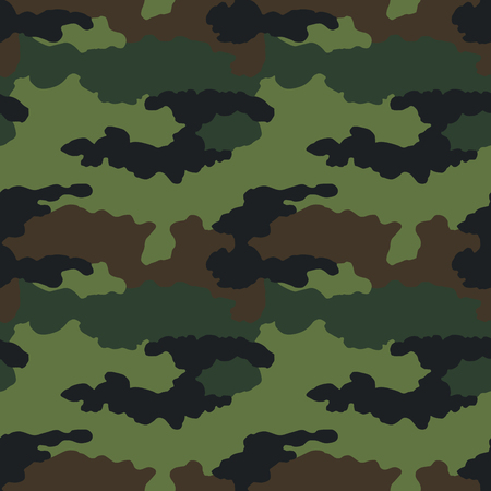 Motivo mimetico. Perfetta. Sfondo militare. Camuffamento soldato. Modello senza cuciture astratto per esercito, marina, caccia, tessuto di stoffa di moda. Stile soldato moderno colorato. Trama di tessuto vettoriale.