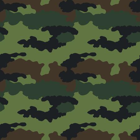 Patrón de camuflaje. Sin costura. Antecedentes militares. Camuflaje de soldado. Resumen de patrones sin fisuras para el ejército, la marina, la caza, la moda textil. Estilo de soldado moderno colorido. Textura de vector facric.