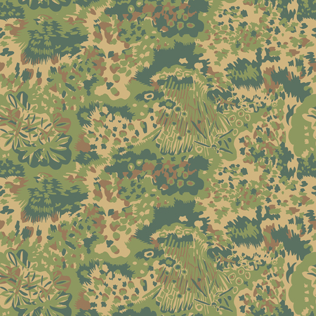 Camouflage pattern. Seamless. Military background. Soldier camouflage. Abstract seamless pattern for army, navy, hunting, fashion cloth textile. Colorful modern soldier style. Vector facric texture.