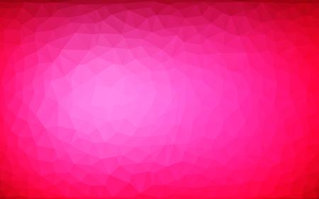 Vector abstracto fondo poligonal irregular - triángulo patrón de baja poli - color burdeos burdeos magenta frambuesa rojo rosa