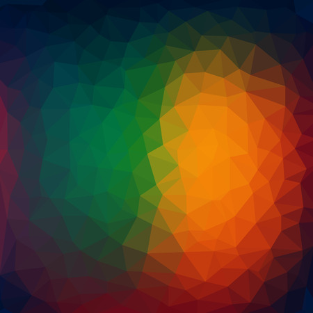 Abstract background - Colorful Geometrical shapes, Polygonal vector texture - Rainbow spectrum colors