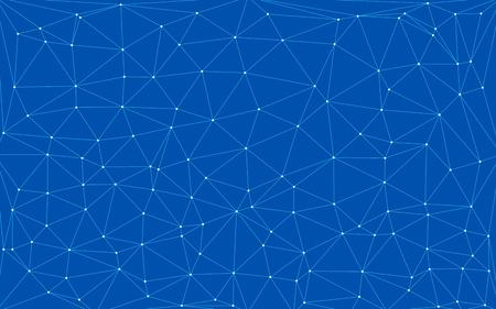 fond numérique de technologie bleue avec des formes triangulaires Vecteurs