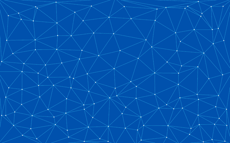 Fondo digital de tecnología azul con formas triangulares Ilustración de vector
