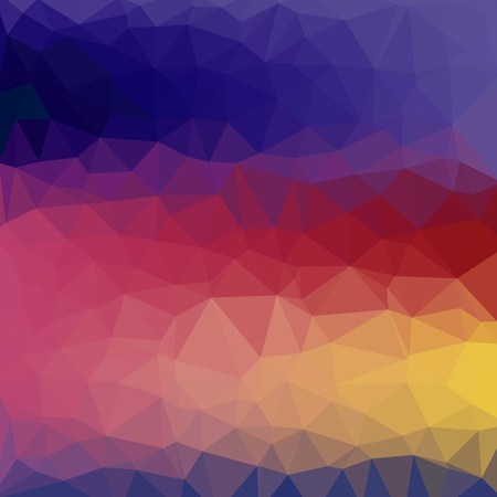 Abstract background - Colorful Geometrical shapes, Polygonal vector texture - Blue, purple, green, yellow colors