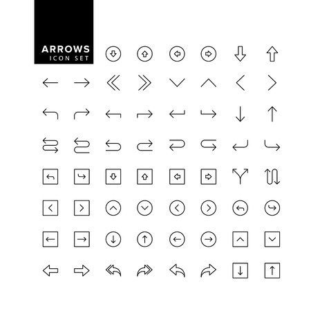 Arrows set. Arrow for the website and app. Line with Editable stroke Фото со стока - 109879531