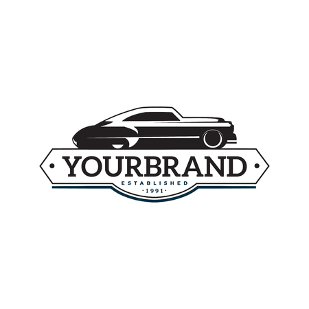illustratie klassieke auto logo sjabloon