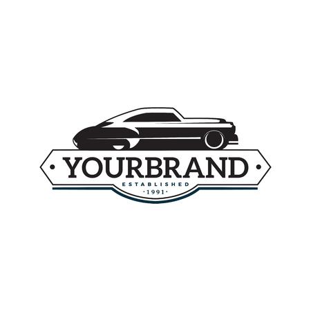 illustration classic car logo template