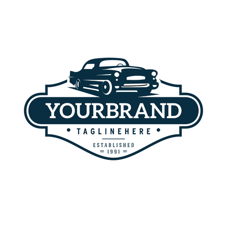 illustration classic car logo template Stockfoto - 108477504