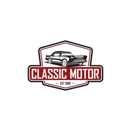 modèle de logo de voiture classique illustration