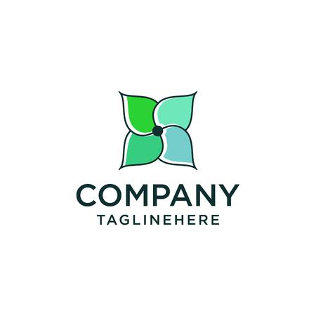 Abstract elegant flower logo icon vector design. Universal creative premium symbol. Graceful jewel vector sign. Stockfoto - 108477646