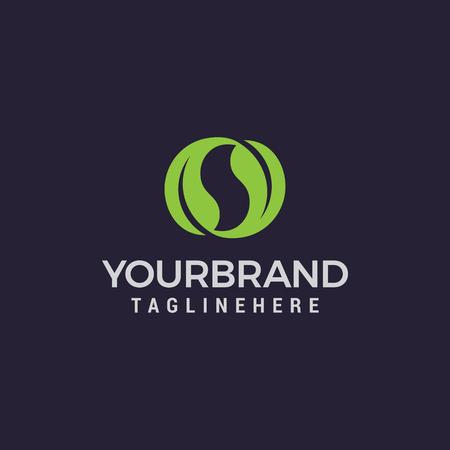natuurlijke bladeren letter s logo