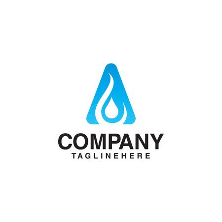 water droplet initial letter a logo Foto de archivo - 108477660