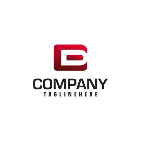 letter D and E monogram square shape logo white black background