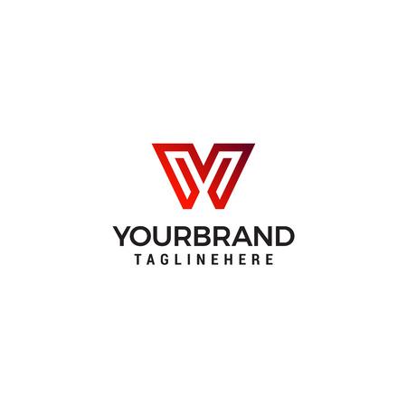 W & V Initial Monogram Symbol
