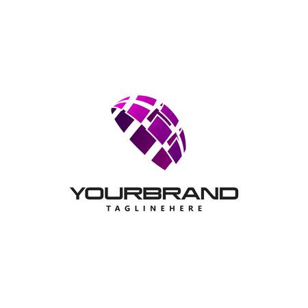 business logo semicircle vector sign Standard-Bild - 108477720