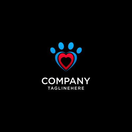 Icône de famille abstraite. Symbole d'amour ensemble. Logo vectoriel