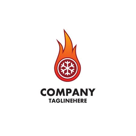 chauffage et refroidissement - création de logo Logo