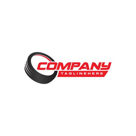 Design del logo del negozio di pneumatici. Marchio aziendale di pneumatici