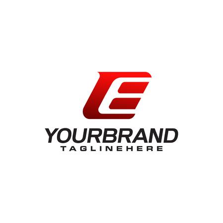 Plantilla de logotipo de letra E